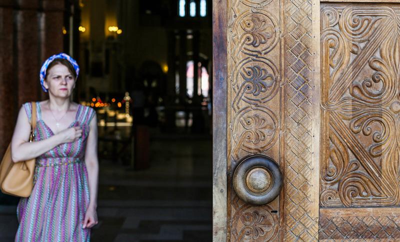姆茨赫塔古城建立于格鲁吉亚王朝铜器时代,处于古代贸易之路的交叉口,并在两条河流的汇合处。这座古城曾是格鲁吉亚王朝的首都,直到5世纪,格鲁吉亚王朝迁都第比利斯。图为姆茨赫塔古城教堂。摄影:孟菁