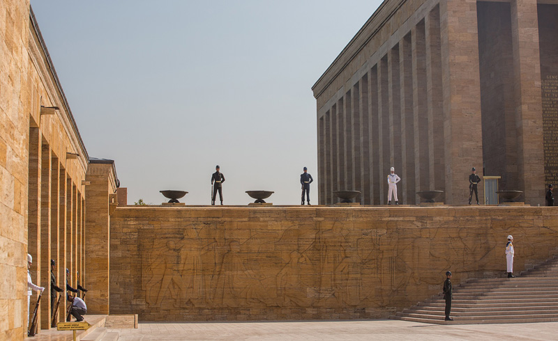 土耳其国父纪念馆,为纪念土耳其共和国创始人凯末尔而建。摄影:孟菁