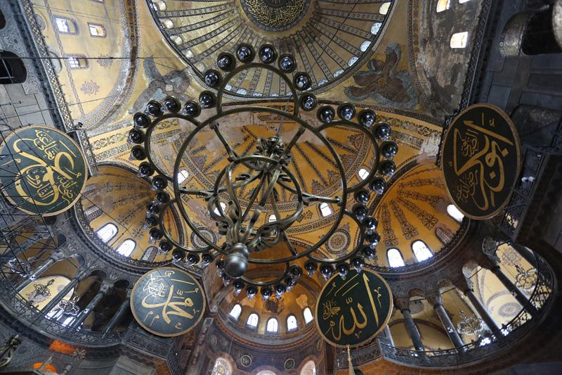 伊斯坦布尔圣索菲亚大教堂。摄影:孟菁