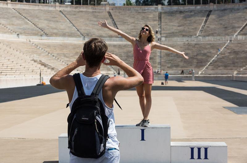 雅典大理石体育场。摄影:孟菁