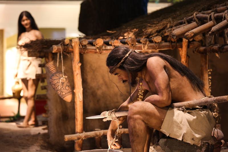 甘肃省博物馆原始人模型。摄影:孟菁