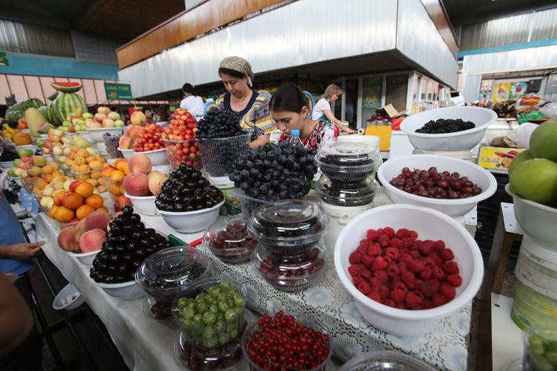 干净整洁的菜市场。摄影:赵冰