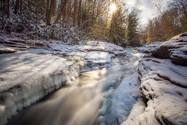 4 步走,拍好冬日溪水小景