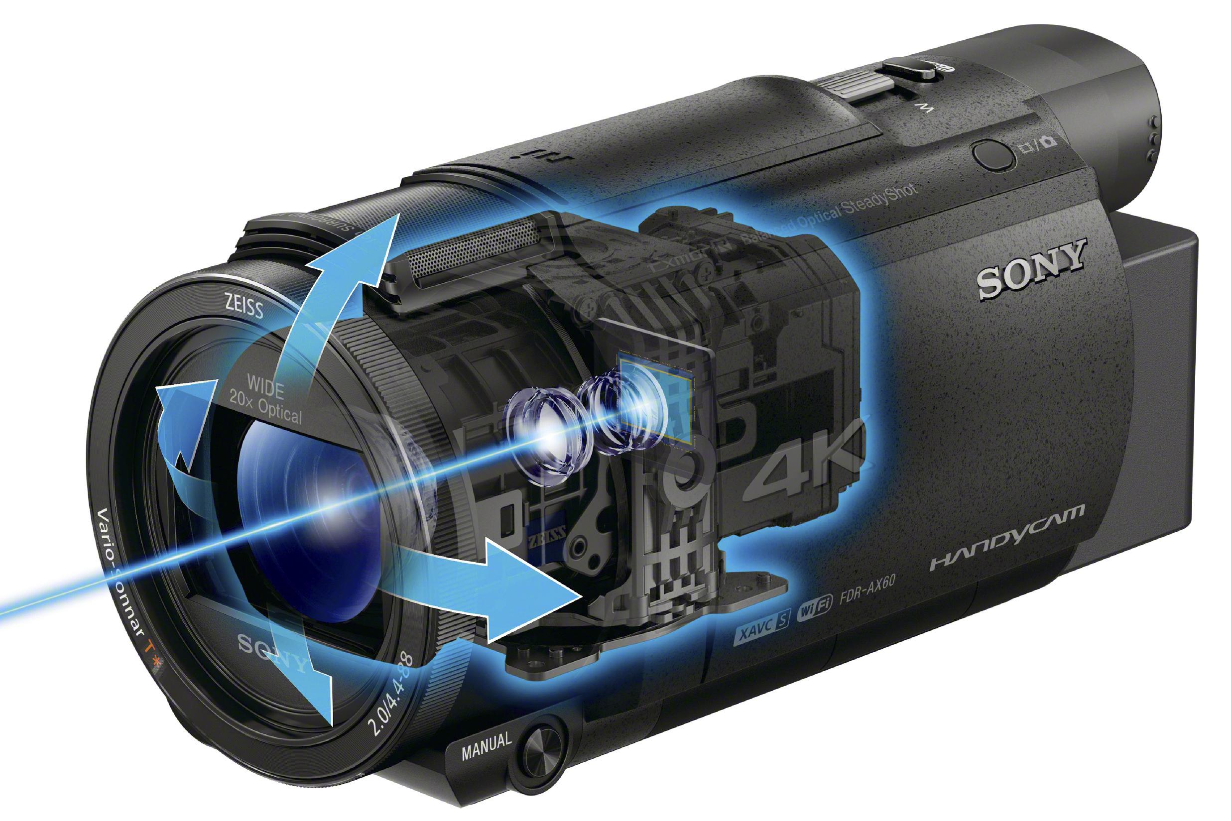 索尼发布两款 Handycam 4K 摄像机新品