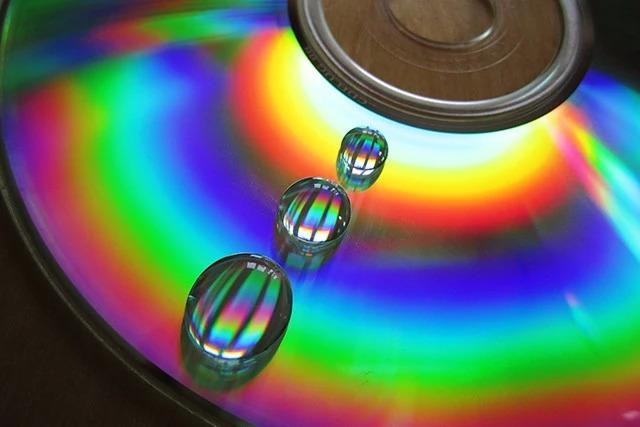 """只需一张破 CD,就能拍出 """"彩虹水滴"""" 创意大片"""