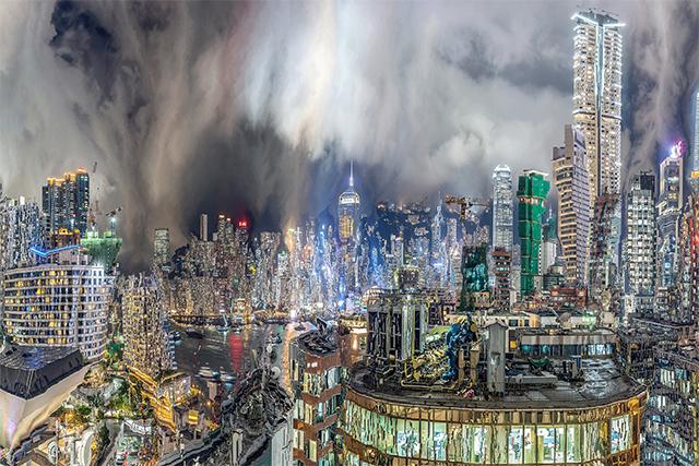 """你见过 """"变异"""" 的城市建筑群吗?像卡住的视频截图"""
